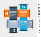 abstract paper infografics.... | Shutterstock .eps vector #132629711