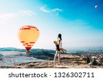 the guy lifted the girl on... | Shutterstock . vector #1326302711