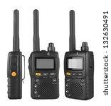 portable radio transceiver sets ...   Shutterstock . vector #132630491