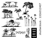 palm trees with summer and...   Shutterstock .eps vector #1326312407