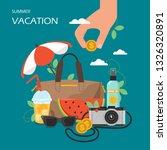 summer vacation vector flat...   Shutterstock .eps vector #1326320891