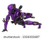 mega purple robot super drone... | Shutterstock . vector #1326332687