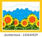 april showers | Shutterstock . vector #132634529