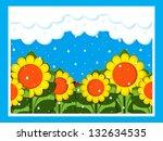 april showers | Shutterstock . vector #132634535