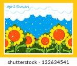 april showers | Shutterstock . vector #132634541