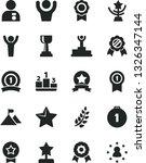 solid black vector icon set  ... | Shutterstock .eps vector #1326347144