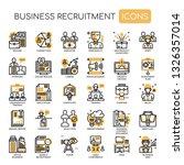 business recruitment   thin... | Shutterstock .eps vector #1326357014