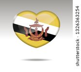 love brunei symbol. heart flag... | Shutterstock .eps vector #1326363254