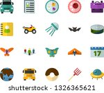 color flat icon set   butterfly ... | Shutterstock .eps vector #1326365621