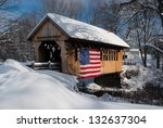 Snow Covered Bridge Has An...