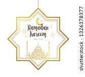 vintage ramadan kareem card.... | Shutterstock .eps vector #1326378377