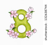 Number 8 And Flowers