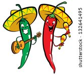 red and green hot mexican... | Shutterstock .eps vector #132641495
