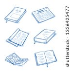 set of objects as  books and... | Shutterstock .eps vector #1326425477