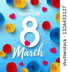 international happy women's day ... | Shutterstock .eps vector #1326433127
