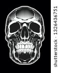 evil skull illustartion.... | Shutterstock . vector #1326436751
