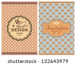 invitation vintage retro cards... | Shutterstock .eps vector #132643979
