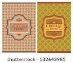 invitation vintage retro cards... | Shutterstock .eps vector #132643985