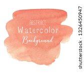 orange abstract watercolor... | Shutterstock .eps vector #1326450947