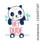 hand drawing sweet panda ...   Shutterstock .eps vector #1326457187