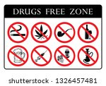 drugs free  zone board.no drugs ... | Shutterstock .eps vector #1326457481