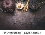 traditional asian green tea... | Shutterstock . vector #1326458534