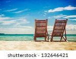 two sitting place in a tropical ... | Shutterstock . vector #132646421