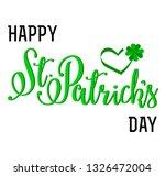 lettering card   happy st... | Shutterstock . vector #1326472004