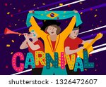 carnival card or banner with... | Shutterstock .eps vector #1326472607