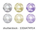 disco balls collection. silver  ... | Shutterstock .eps vector #1326474914