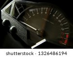 macro shot of speedometer in... | Shutterstock . vector #1326486194