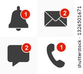 notification icons set. alert...   Shutterstock .eps vector #1326501671