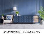 blue cabinet with white... | Shutterstock . vector #1326513797