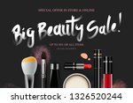 big beauty sale  cosmetics... | Shutterstock .eps vector #1326520244