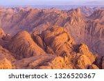 amazing sunrise at sinai... | Shutterstock . vector #1326520367