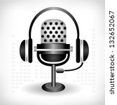 microphone background | Shutterstock .eps vector #132652067