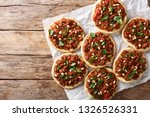 lebanese arab pizza with meat ... | Shutterstock . vector #1326526331