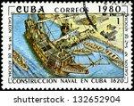cuba   circa 1980  a stamp... | Shutterstock . vector #132652904