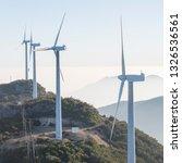 windmill mountain power plant   Shutterstock . vector #1326536561