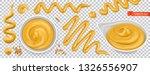 mustard 3d vector realistic set | Shutterstock .eps vector #1326556907