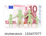 monetary concepts. paper family ... | Shutterstock . vector #132657077