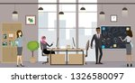 group of business people or... | Shutterstock .eps vector #1326580097
