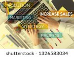 increase sales concept | Shutterstock . vector #1326583034