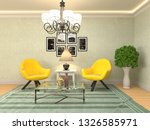 interior with chair. 3d... | Shutterstock . vector #1326585971