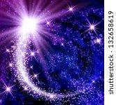 flying comet in the space | Shutterstock . vector #132658619
