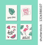 collection of handdrawn summer...   Shutterstock .eps vector #1326588107