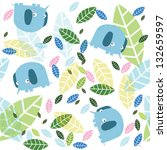 vector background with leaves... | Shutterstock .eps vector #132659597