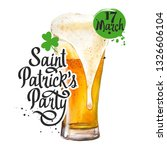st. patrick's day. glass of... | Shutterstock . vector #1326606104