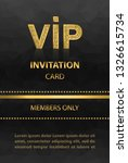 vip invitation card with... | Shutterstock .eps vector #1326615734