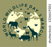 world wildlife day  poster | Shutterstock .eps vector #1326619301
